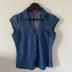3x$25🌷GUESS Denin fabric blouse - Size S